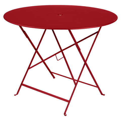 Bistro Round Table in Poppy Red