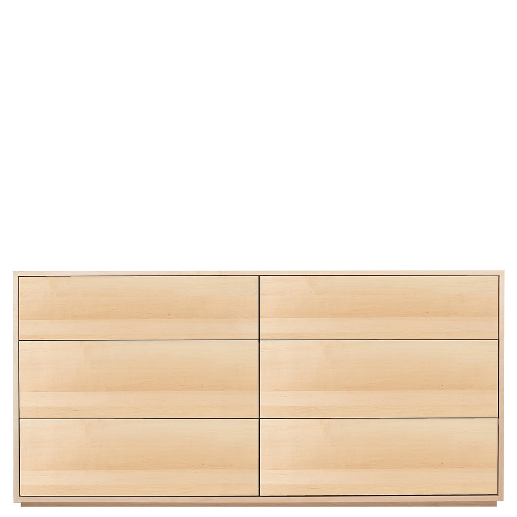 Bristol Six Drawer Dresser in Maple by Spectra Wood