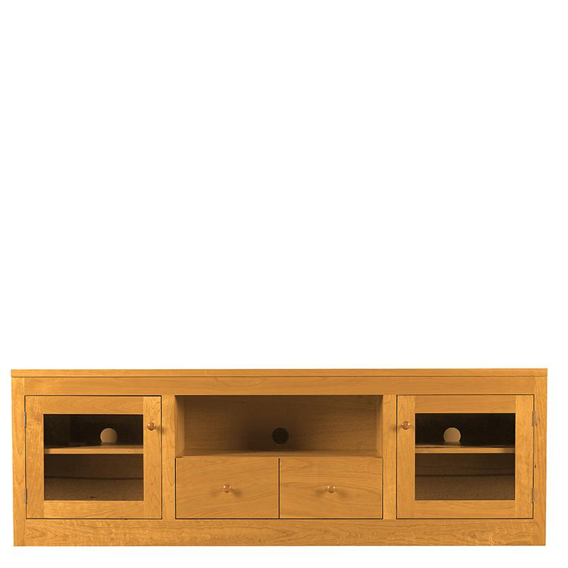 "Linden 72"" TV Stand (2 Drawer, 2 Doors, and Open Center) by Spectra Wood"