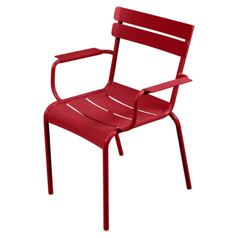 Luxembourg Armchair in Poppy Red