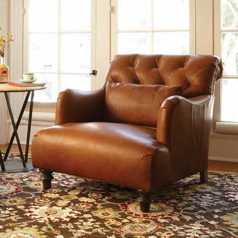 Essentials Acacia Leather Chair