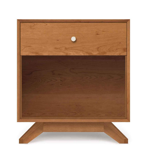 Astrid One-Drawer Nightstand in Cherry - Urban Natural Home Furnishings.  Nightstands, Copeland