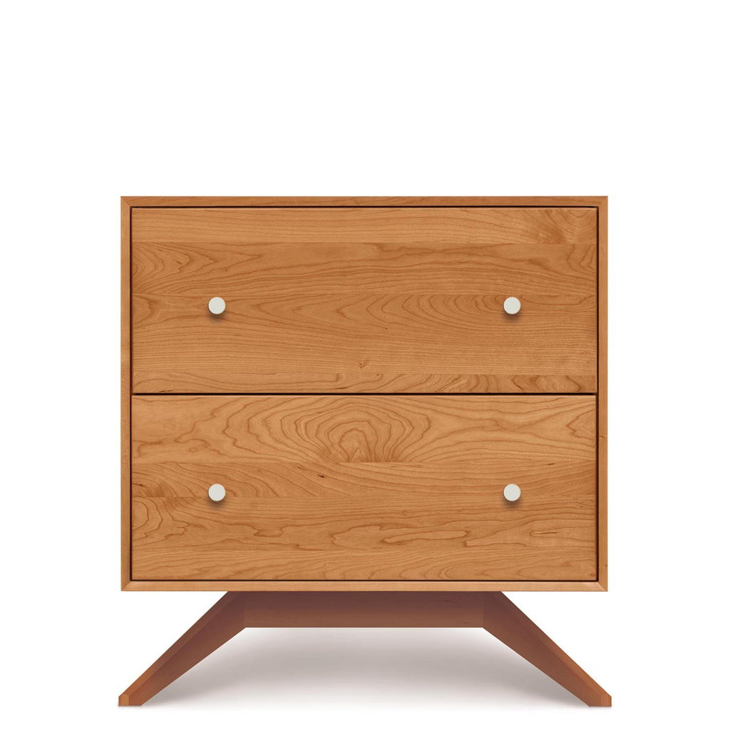 Astrid Two Drawer Nightstand in Cherry - Urban Natural Home Furnishings.  Nightstands, Copeland