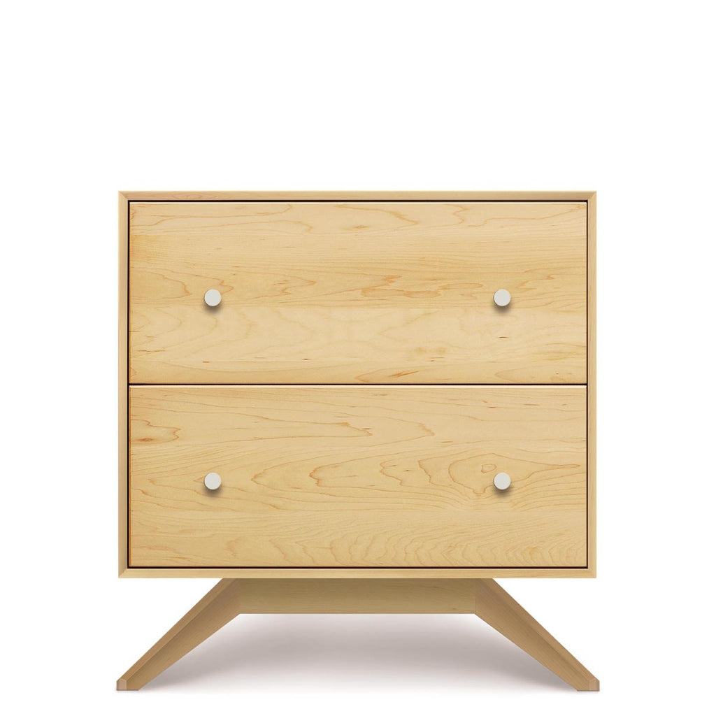 Astrid Two Drawer Nightstand in Maple - Urban Natural Home Furnishings.  Nightstands, Copeland