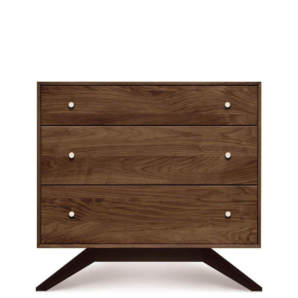 Astrid 3 Drawer Dresser in Walnut with Dark Chocolate Legs - Urban Natural Home Furnishings.  Dressers & Armoires, Copeland