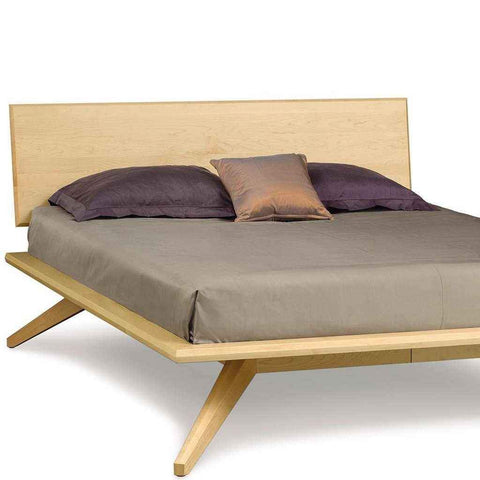 Astrid Bed with Single Panel Headboard in Maple
