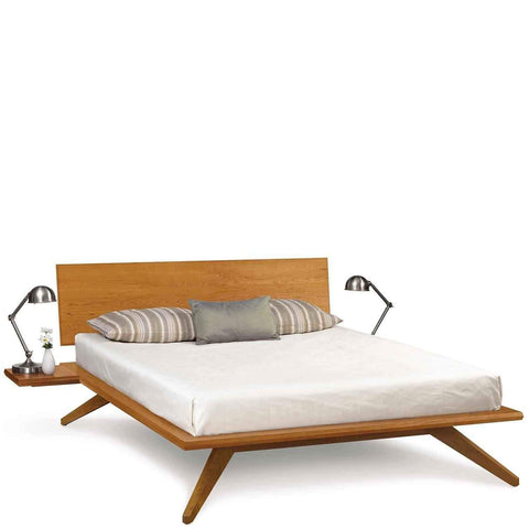 Astrid Bed with Single Panel Headboard in Cherry