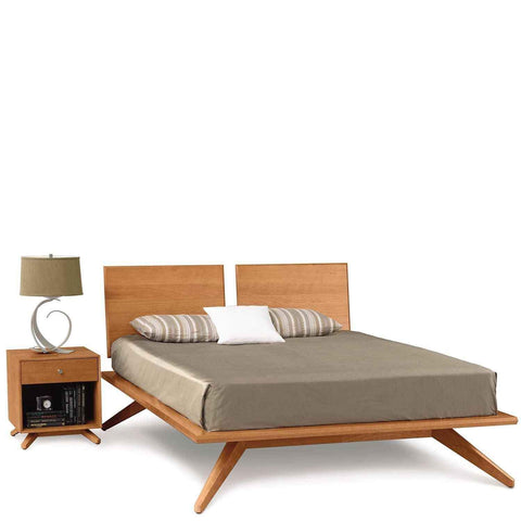 Astrid Bed With Adjustable Headboard in Cherry by Copeland