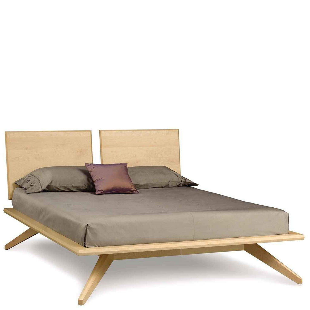 Astrid Bed with 2 Adjustable Headboard Panels in Maple - Urban Natural Home Furnishings.  Solid Wood Bed, Copeland