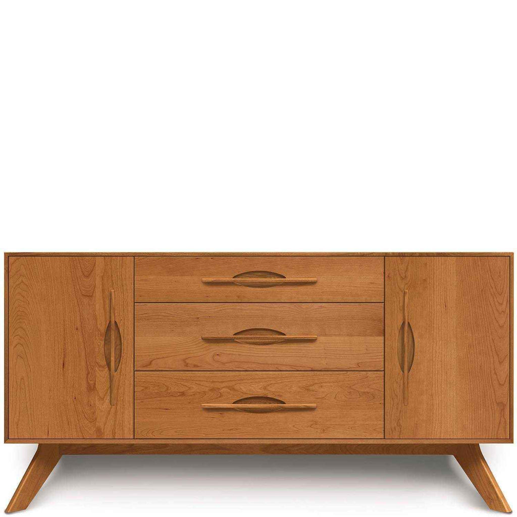 Audrey 1 Door on Either Side of 3 Drawers Buffet in Cherry - Urban Natural Home Furnishings.  Buffet, Copeland