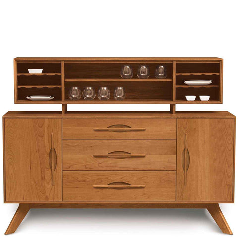 Audrey 1 Door on Either Side of 3 Drawers Buffet in Cherry