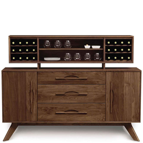 Audrey 1 Door on Either Side of 3 Drawers Buffet in Walnut by Copeland