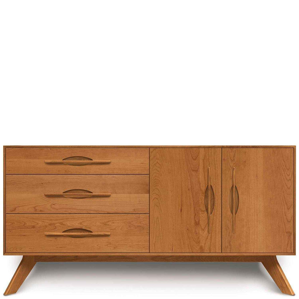 Audrey 3 Drawers on Left, 2 Doors on Right Buffet in Cherry - Urban Natural Home Furnishings.  Buffet, Copeland