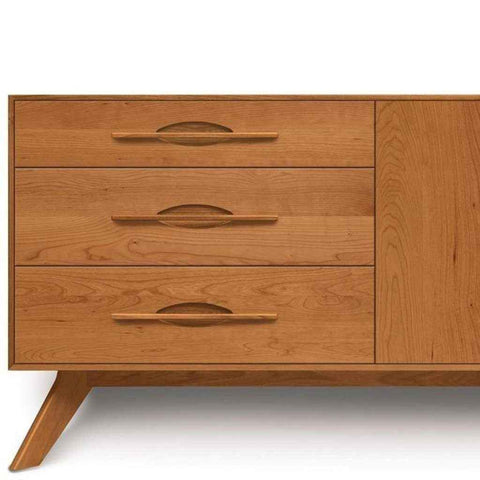 Audrey 3 Drawers on Left, 2 Doors on Right Buffet in Cherry by Copeland