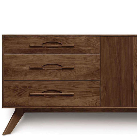 Audrey 3 Drawers on Left, 2 Doors on Right Buffet in Walnut by Copeland
