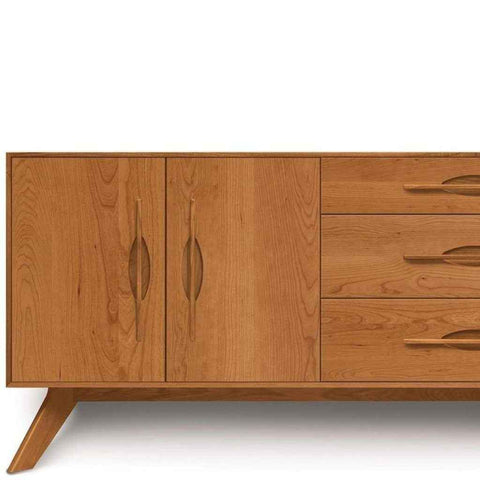 Audrey 3 Drawers on Right, 2 Doors on Left Buffet in Cherry by Copeland