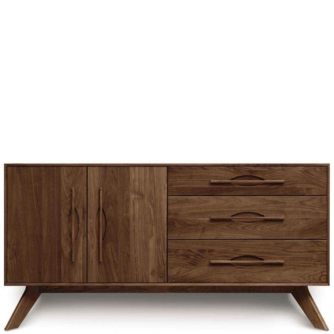 Audrey 3 Drawers on Right, 2 Doors on Left Buffet in Walnut - Urban Natural Home Furnishings.  Buffet, Copeland