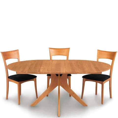 Audrey Round Extension Table in Cherry by Copeland