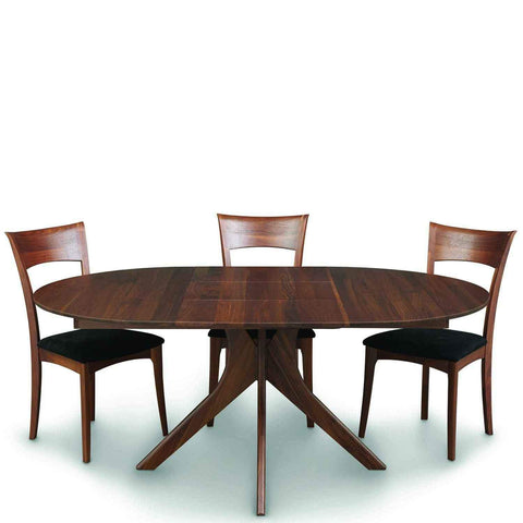 Audrey Round Extension Table in Walnut - Urban Natural Home Furnishings.  Dining Table, Copeland