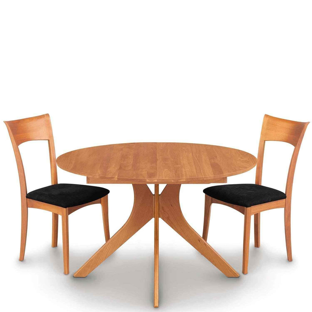 Audrey round extension table in cherry