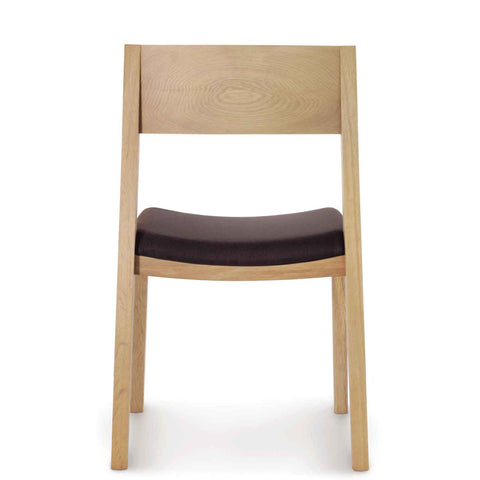 Austin Sidechair with Upholstery in Oak