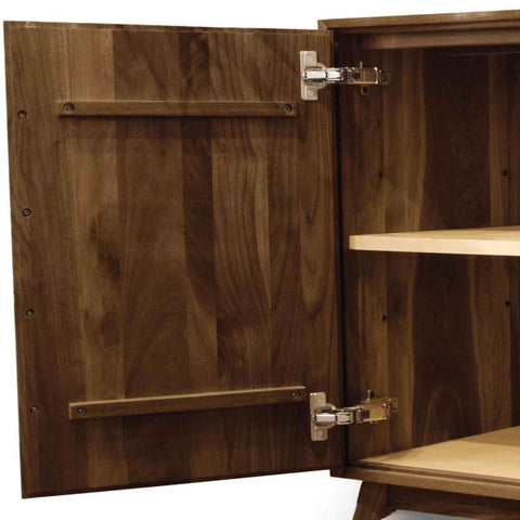 Audrey 3 Drawers on Right, 2 Doors on Left Buffet in Walnut by Copeland