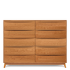 Catalina Ten Drawer Dresser in Cherry