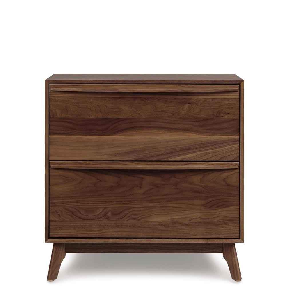 Catalina Two Drawer Nightstand in Walnut