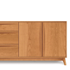 Catalina Dresser (3 Drawers on left, 2 Doors on right) in Cherry