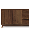 Catalina Dresser (3 Drawers on right, 2 Doors on left) in Walnut