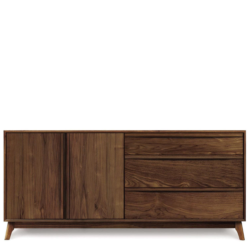 Catalina Buffet (3 Drawers on right, 2 Doors on left) in Walnut - Urban Natural Home Furnishings.  Dressers & Armoires, Copeland