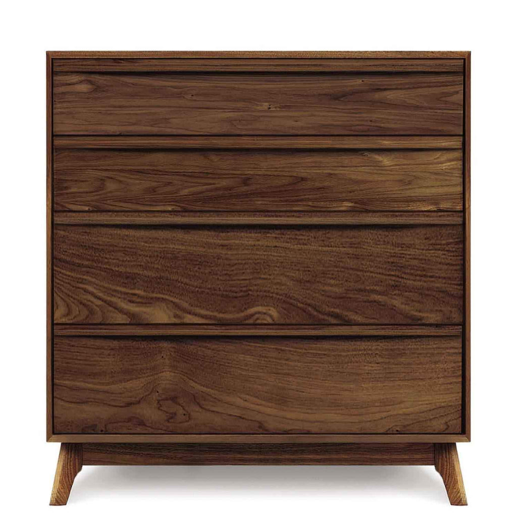 Catalina Four-Drawer Dresser in Walnut - Urban Natural Home Furnishings.  Dressers & Armoires, Copeland