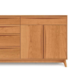 Catalina Buffet (4 Drawers on left, 1 Drawer over two doors on right) in Cherry