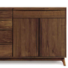 Catalina Dresser (4 Drawers on left, 1 Drawer over two doors on right) in Walnut