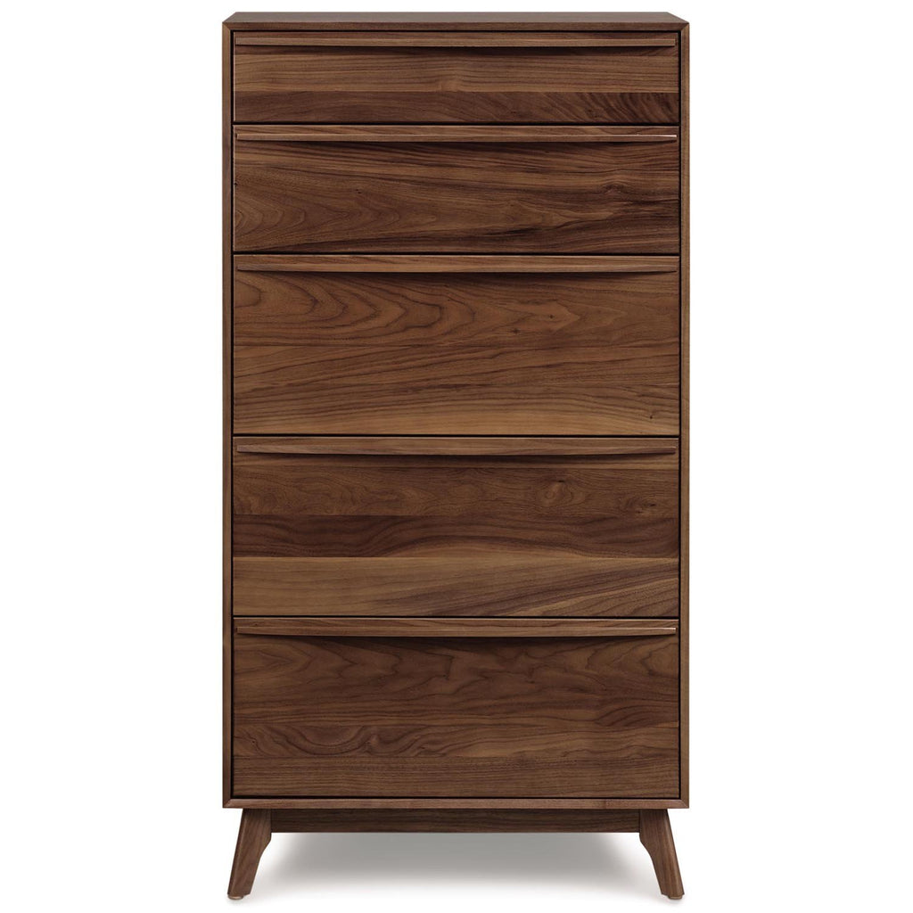 Catalina Five-Drawer Dresser in Walnut - Urban Natural Home Furnishings.  Dressers & Armoires, Copeland