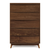 Catalina Five Drawer Dresser in Walnut (Wide)