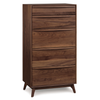 Catalina Five Drawer Dresser in Walnut (Narrow)