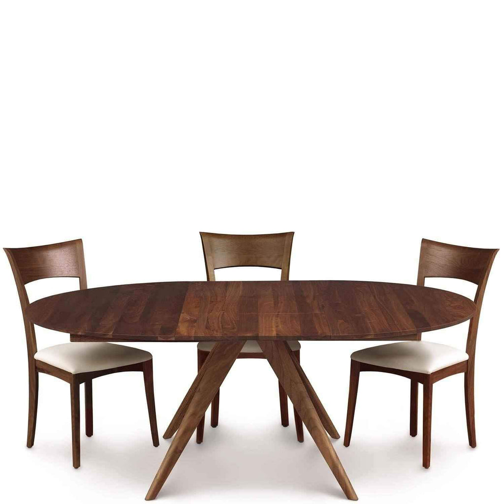 Catalina Round Table Dining Walnut Extension In 34Lc5RjqA