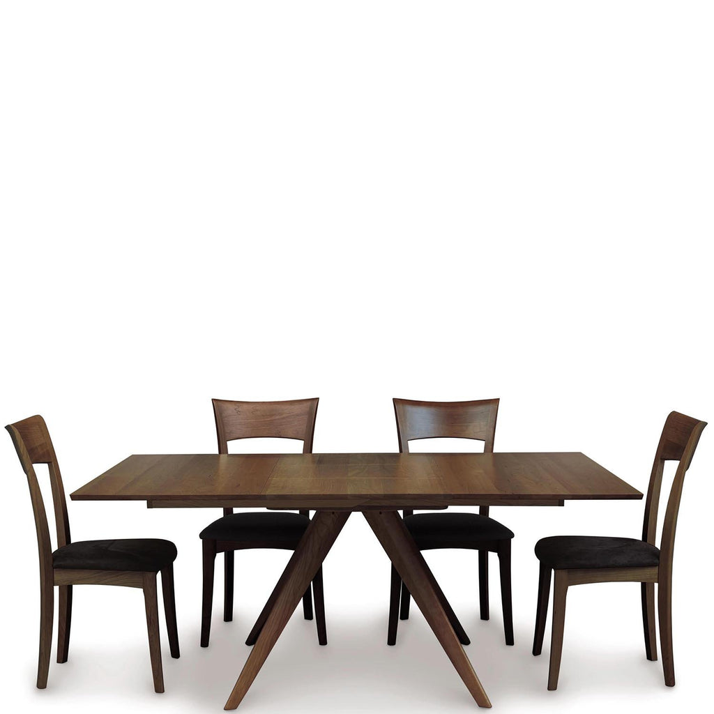 "Catalina 48"" Square Top Extension Table in Walnut - Urban Natural Home Furnishings.  Dining Table, Copeland"