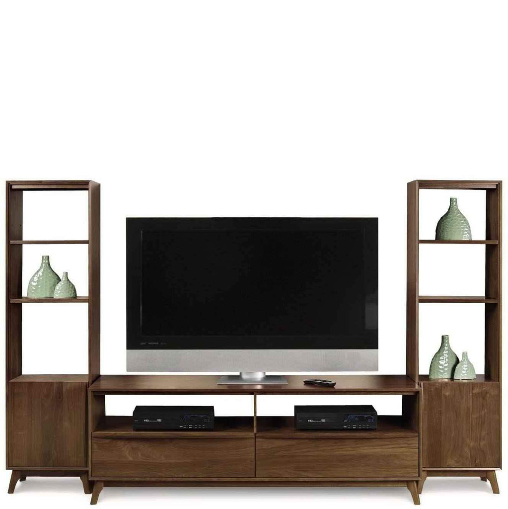 Catalina Tv Stand With 2 Bookcases Copeland Urban Natural Home