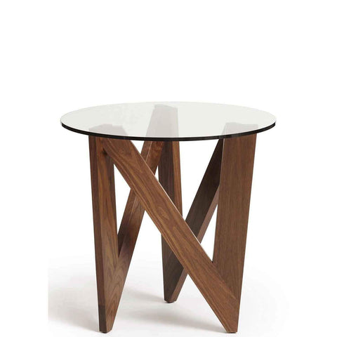 Check Round End Table Walnut - Urban Natural Home Furnishings.  Nightstands, Copeland