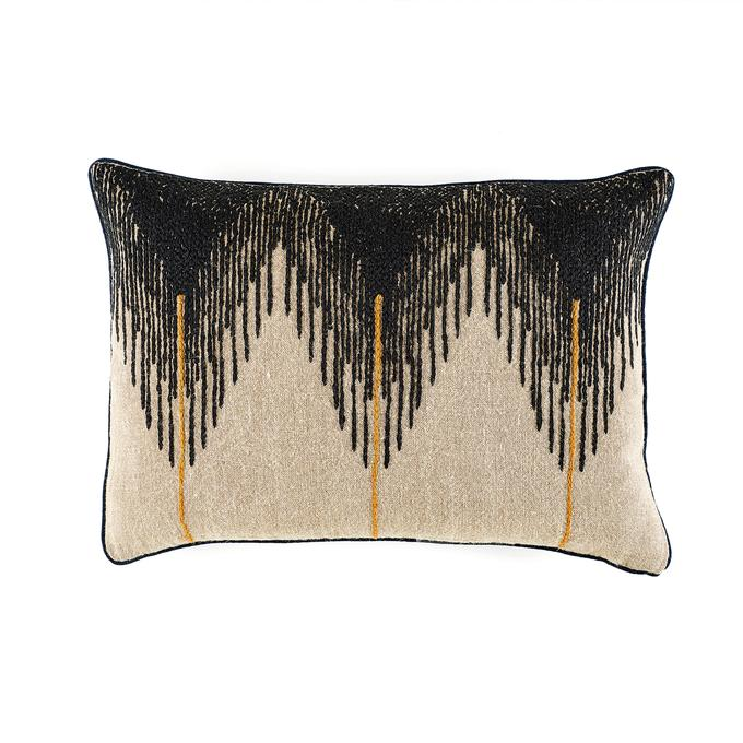 Josephine Accent Pillow in Deep Black by Elitis
