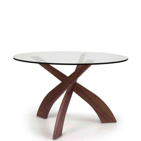 "Entwine 48"" Round Glass Top Table - Urban Natural Home Furnishings.  Dining Table, Copeland"