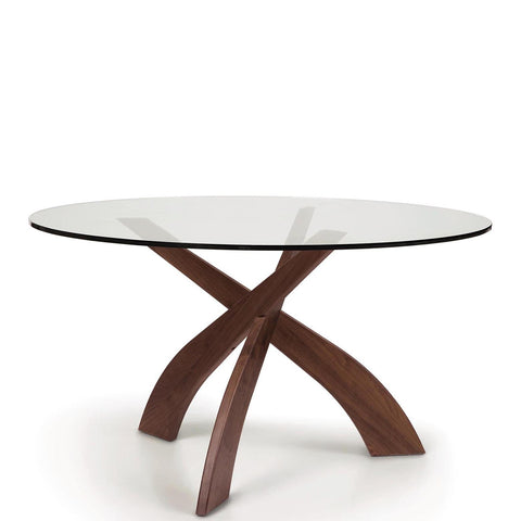 "Entwine 54"" Round Glass Top Table - Urban Natural Home Furnishings.  Dining Table, Copeland"