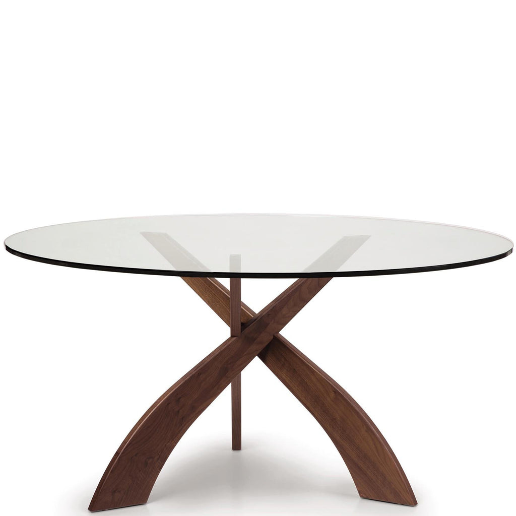 "Entwine 60"" Round Glass Top Table - Urban Natural Home Furnishings.  Dining Table, Copeland"