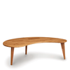 Essentials Kidney Shaped Coffee Table, Wooden Legs