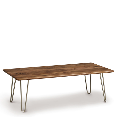 Essentials Rectangular Coffee Table, Metal Legs