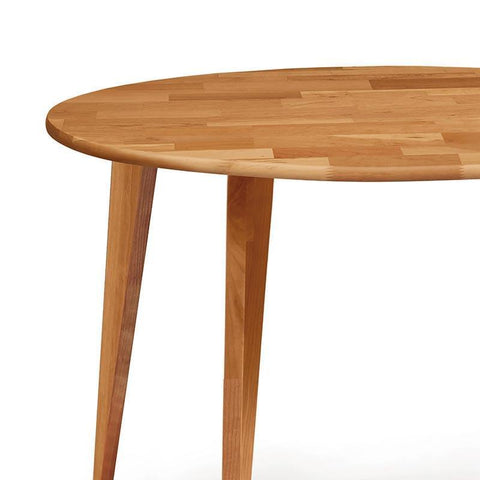 Essentials Round Dining Table, Wooden Legs