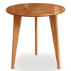 Essentials Round End Table, Wooden Legs by Copeland