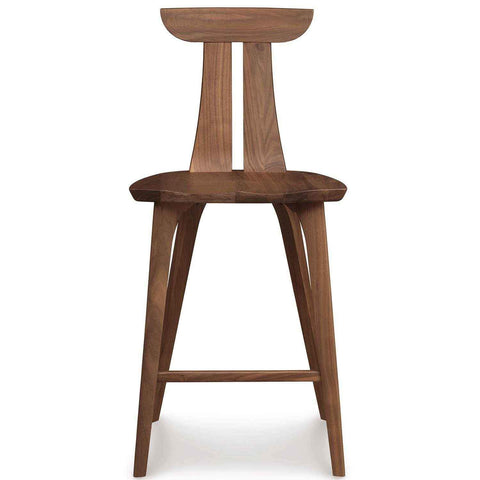 Estelle Counter Stool in Natural Walnut - Urban Natural Home Furnishings.  Counter Stools, Copeland